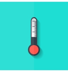 Thermometer web icon flat design vector
