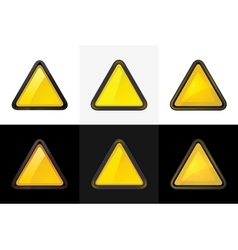 Triangle web button vector