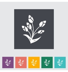 Tulip single flat icon vector image