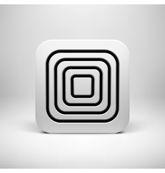 White Abstract App Icon Template vector image