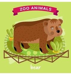 Zoo animal bear vector
