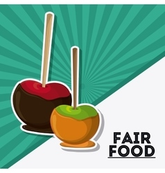 Apple fair food snack carnival icon vector