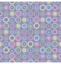 seamless pattern with colored abstract elements vector image
