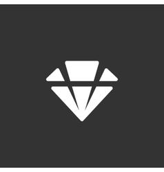 Diamond logo on black background icon vector image