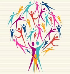 Human family colorful tree vector image