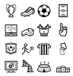 Soccer icons vector