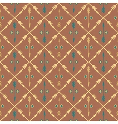 Ethnic colorful seamless pattern with arrows hand vector
