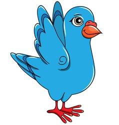 funny cartoon pigeon positive vector image