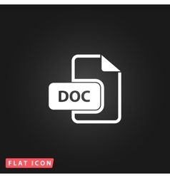 Doc file extension icon vector