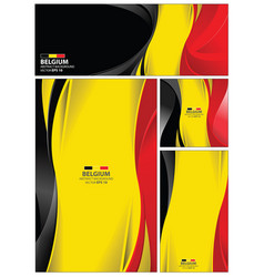 Abstract belgium flag background vector