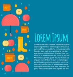 Autumn stuff letterhead template in flat style vector