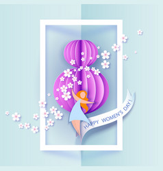Card for 8 march womens day vector