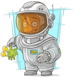 Cartoon astronaut in space suit vector image