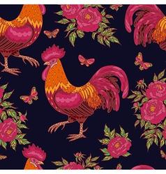 Cock pattern dark vector