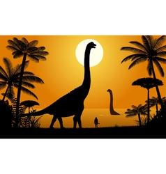 Dinosaur - Abydosaurus vector image vector image