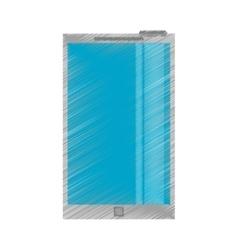 drawing blue screen smartphone mobile vector image vector image