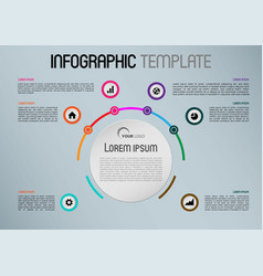 Modern infographics with colorful circle vector