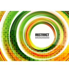 Orange and green swirl shapes modern background vector image
