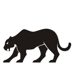 panther silhouette vector image vector image