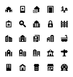 Real estate icons 4 vector