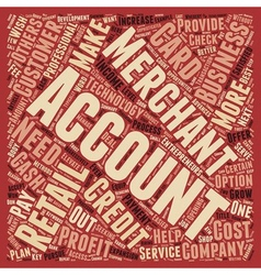 Retail merchant accounts do you need one text vector