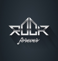 Rock music forever - metal logo emblem label badge vector