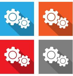 settings - flat style icon vector image