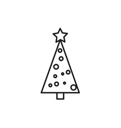 simple christmas tree icon vector image