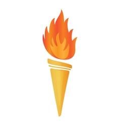 Torch icon vector