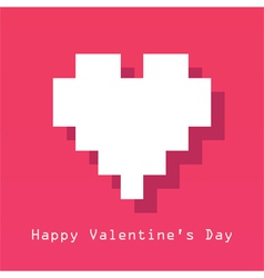 Valentines day card with pixelated heart vector