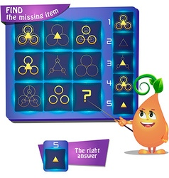 Visual game for children vector
