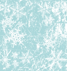 winter background snowflakes illustration vector image vector image