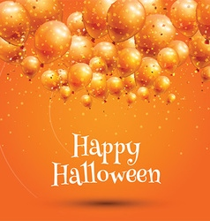 Happy Halloween background with balloons vector image