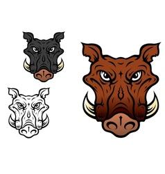 Wild boar or hog vector image