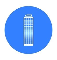 Skyscraper icon black single building icon from vector