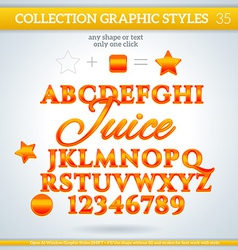 Juice graphic styles for design use for decor text vector