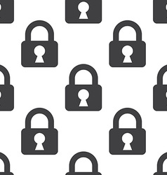 Lock seamless pattern vector