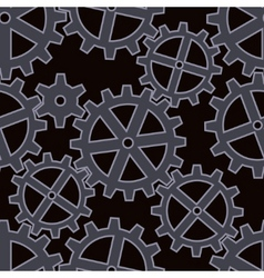 Gears seamless background pattern vector
