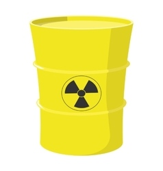 Cartoon barrel with nuclear waste vector