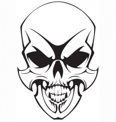 tatto skulll vector image