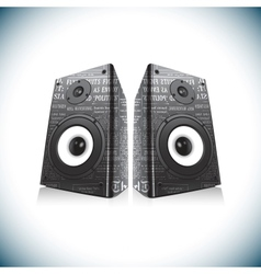 Two audio speakers vector image
