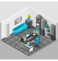 Office interior design vector