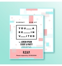 Event party wedding invitation card or poster vector
