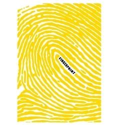 Black fingerprint shape secure identification id vector