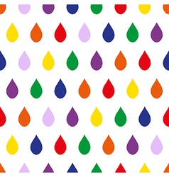 Colorful rain white background vector