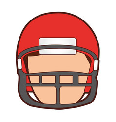 american football player avatar vector image