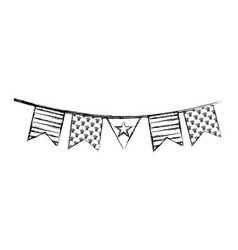 American garlands isolated icon vector