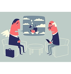 Angel investor and psychologist vector