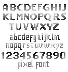 Big pixel font vector