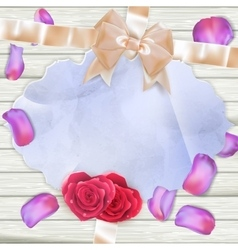 Card with tulip Petals EPS 10 vector image